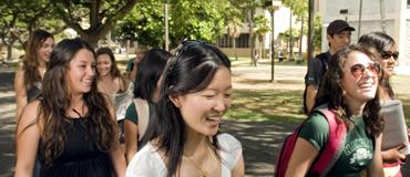 Students Walking On The Mānoa Campus
