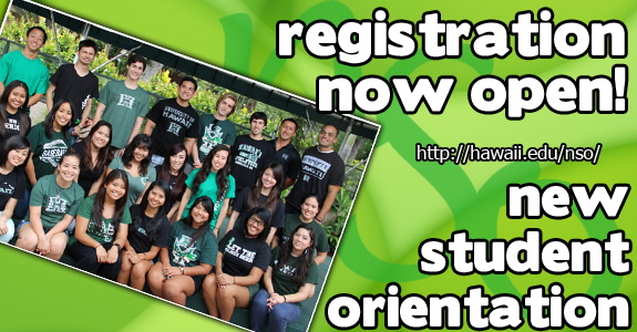 Summer/Fall 2016 New Student Orientation registration is now open. Visit NSO to register and learn more.