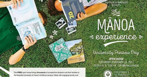 Save the Date: The Mānoa Experience 2017